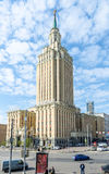 High-rise building of modern prestigious hotel in the Moscow region Stock Photography