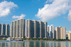 High rise building near the sea. In Hongkong Stock Image