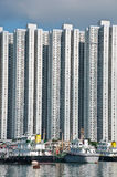 High rise building near the sea. In Hongkong Stock Images