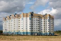 High-rise building in new area Stock Photo