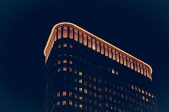 High rise building at night Royalty Free Stock Photo