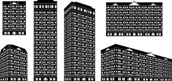 High Rise Building Set Royalty Free Stock Image