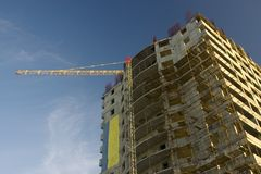 High rise building site Stock Images