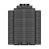 High-rise building, skyscraper,Realtor single icon in black style vector symbol stock illustration web. Royalty Free Stock Photo