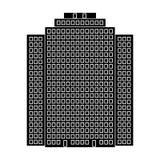 High-rise building, skyscraper,Realtor single icon in black style vector symbol stock illustration web. High-rise building, skyscraper,Realtor single icon in Royalty Free Stock Photo