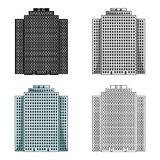High-rise building, skyscraper,Realtor single icon in cartoon style vector symbol stock illustration web. Royalty Free Stock Image