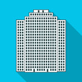 High-rise building, skyscraper,Realtor single icon in flat style vector symbol stock illustration web. Royalty Free Stock Images