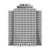 High-rise building, skyscraper,Realtor single icon in monochrome style vector symbol stock illustration web. Royalty Free Stock Photos