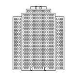 High-rise building, skyscraper,Realtor single icon in outline style vector symbol stock illustration web. Stock Photo