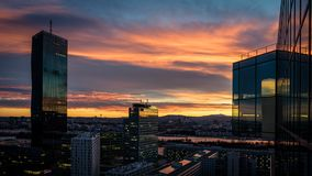 High Rise Building during Sunset Stock Photography