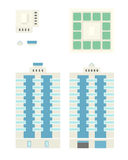 High-Rise Building - Template for Creation Axonometric Projectio Stock Photography