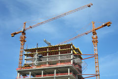 High-rise building under construction. royalty free stock photos