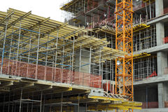 High-rise building under construction royalty free stock image