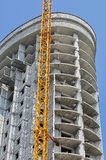 High-rise building under construction. Close-up Stock Photography