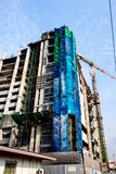 High-rise building under construction. The high-rise building under construction Royalty Free Stock Photography