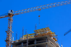 High rise building under construction. royalty free stock image