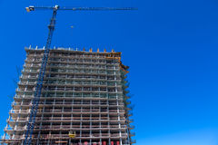 High rise building under construction. royalty free stock images