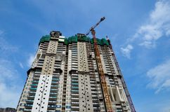 High rise building under construction Royalty Free Stock Images