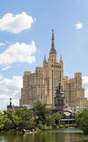 The high-rise building on Vosstaniya Square, Moscow Royalty Free Stock Image