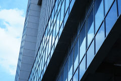 High rise building with window line pattern perspective Royalty Free Stock Photo
