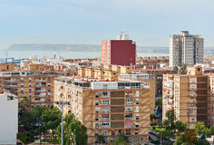 High-rise buildings of Alicante city Stock Images