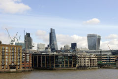 High-rise buildings along the River Thames Stock Photos