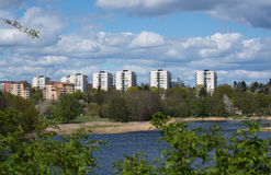 High rise buildings in Bergshamra Royalty Free Stock Photography