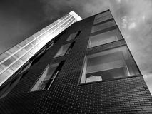 High rise buildings in black and white Stock Photos