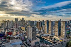 Beautiful morning in Changsha city. China 2017. High-rise buildings of Changsha city during the morning sunrise. China 2017. Urban lanscape. Arhitecture. City Stock Photography