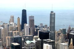 High Rise Buildings in Chicago. Illinois USA royalty free stock photos