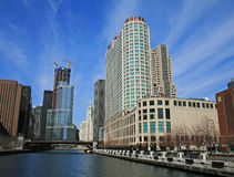 The high-rise buildings in Chicago Royalty Free Stock Images