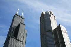 The high-rise buildings in Chicago Royalty Free Stock Photo