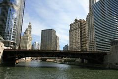 The high-rise buildings in Chicago Royalty Free Stock Photos