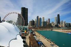 The high-rise buildings in Chicago Stock Images
