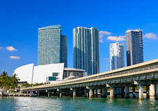 The high-rise buildings in downtown Miami Stock Photography