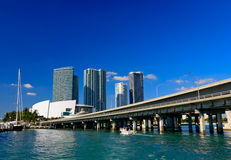 The high-rise buildings in downtown Miami Stock Photos