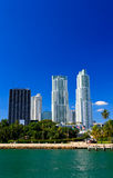 The high-rise buildings in downtown Miami Stock Image