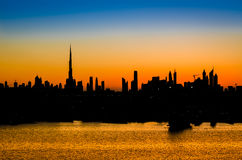 High rise buildings  in Dubai. Royalty Free Stock Image
