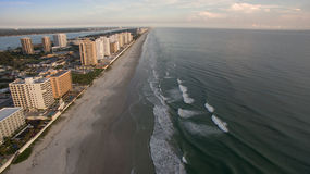 High rise buildings on Florida coast at sunset Stock Photo