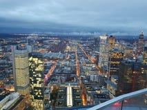 High-rise buildings frankfurt royalty free stock photo