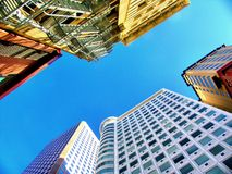 High rise buildings. High rise building downtown in america stock photos