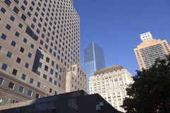 High rise buildings in lower manhattan new york Royalty Free Stock Photography