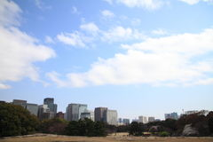 High rise buildings in Marunouchi Royalty Free Stock Photo