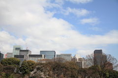 High rise buildings in Marunouchi Royalty Free Stock Photos