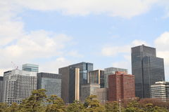 High rise buildings in Marunouchi Stock Photography