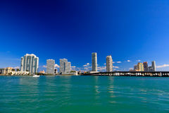The high-rise buildings in Miami Beach Royalty Free Stock Photo