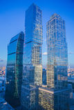 High rise buildings of Moscow business center. Moscow - city Stock Image