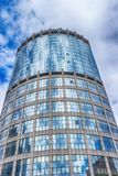 High rise buildings of Moscow city business center stock photography