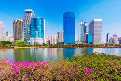 High rise buildings and nature Stock Image