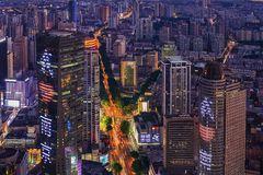 High-rise Buildings Overlooking The Nanjing Royalty Free Stock Photography